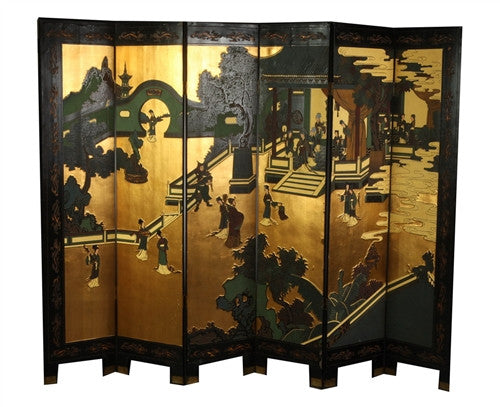 Mid Century Chinese Corromandel Screen - GDH | The decorators department Store