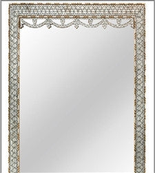 Syrian Mother-of-pearl and Bone Inlay Mirror - GDH | The decorators department Store