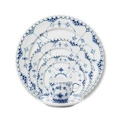 Blue Fluted Full Lace Dinnerware-5 Piece Place Setting - GDH | The decorators department Store
