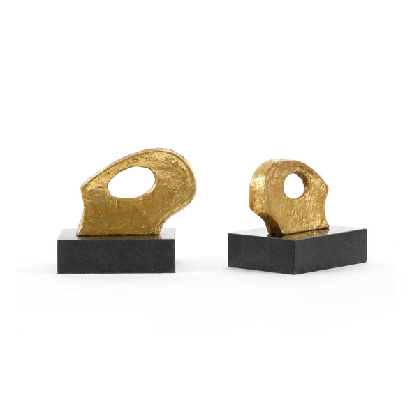 FINCH STATUE (PAIR), GOLD