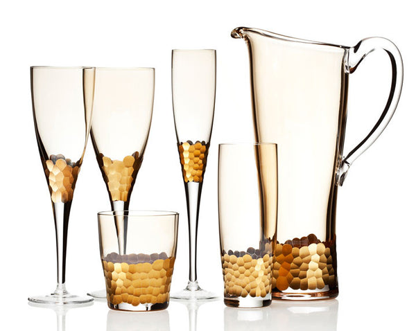 Paillette Gold Stemware by Kim Seybert - GDH | The decorators department Store - 1