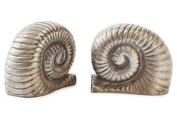 Nickel Snail Bookends - GDH | The decorators department Store