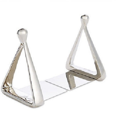 Stirrup Bookends-Nickel - GDH | The decorators department Store - 1