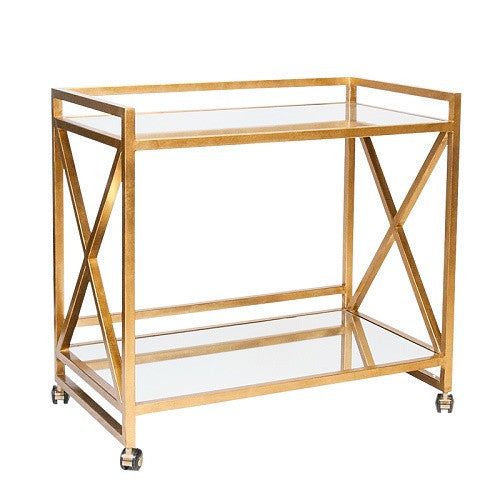 World's Away | Gerard Bar Cart-Gold - GDH | The decorators department Store