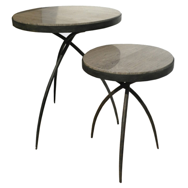 Grey Marble Top Tripod Side Table