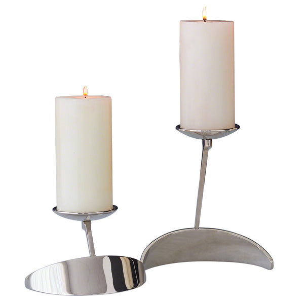 """S"" Nickel Candle Holder"