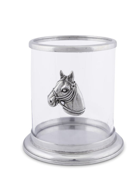 Small Horse Head Pillar Candle Holder