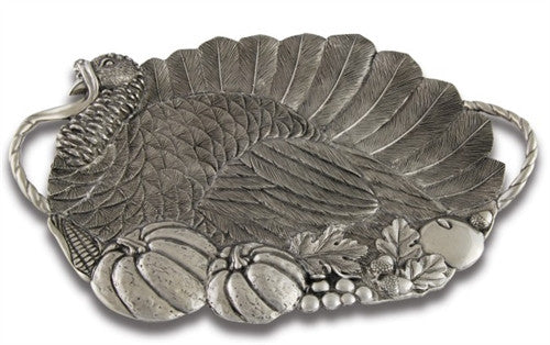 Pewter Turkey Serving Tray - GDH | The decorators department Store