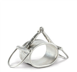 Vagabond House Pewter D Ring Bit Napkin Rings S/4 - GDH | The decorators department Store