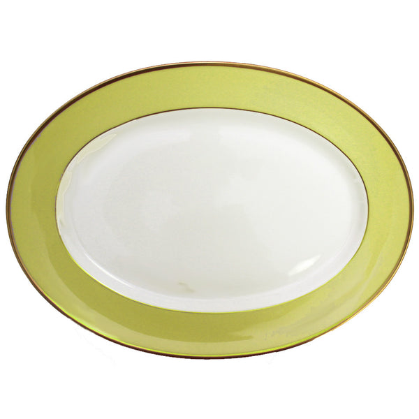 Arc en Ciel 14 Inch Platter | Almond Green - GDH | The decorators department Store
