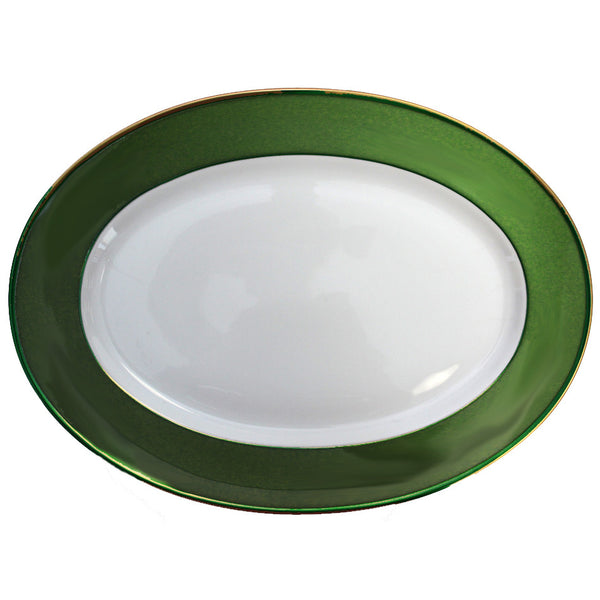 Arc en Ciel 14 Inch Platter | Empire Green - GDH | The decorators department Store
