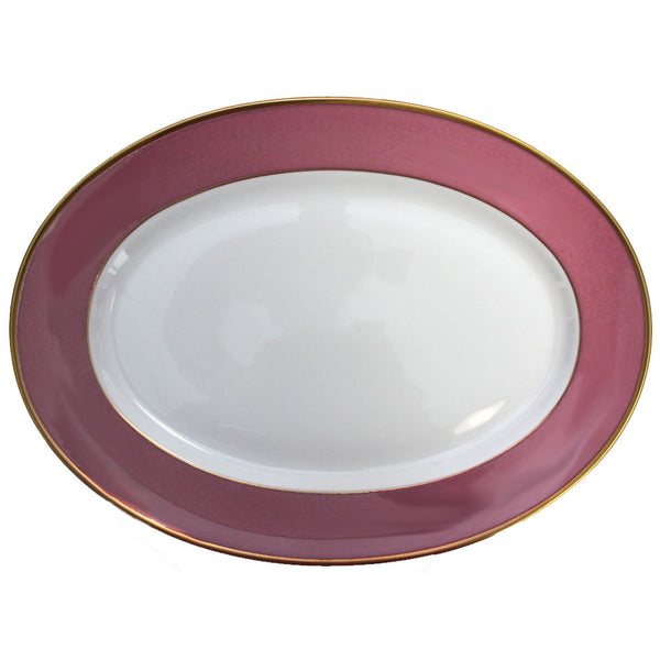 Arc en Ciel 14 Inch Platter | Fuschia - GDH | The decorators department Store