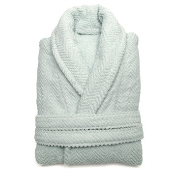 herringbone-bathrobe-aqua - GDH | The decorators department Store