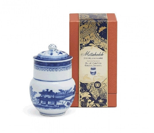Blue Canton Heirluminare Fragrance Candle  Shang - GDH | The decorators department Store