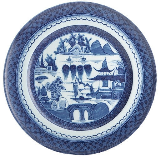 Mottahedeh | Blue Canton Large Dinner Plate - GDH | The decorators department Store
