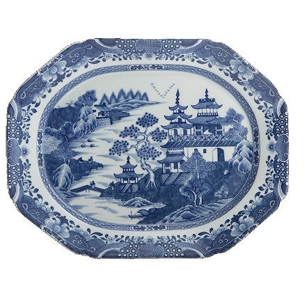 Mottahedeh | Blue Canton Oval Platter - GDH | The decorators department Store