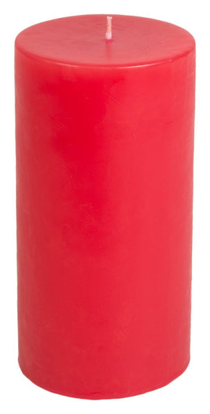 Classic Hurricane Pillar Candles (Pair) | Holiday Red