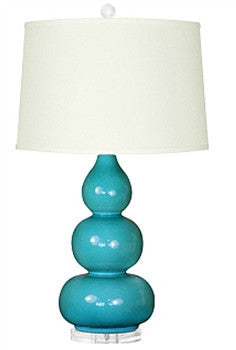 Hutton Lamp |  Dark Turquoise by Bungalow 5 - GDH | The decorators department Store