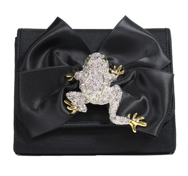 Eve Square-Puffy Bow  Frog