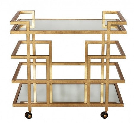 World's Away | Ireland Bar Cart-Gold - GDH | The decorators department Store
