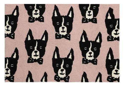 BOSTON TERRIER HOOK RUG