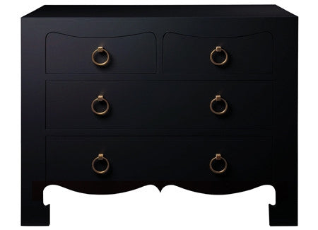 Jacqui 4-Drawer Side Table | Black | by Bungalow 5 - GDH | The decorators department Store