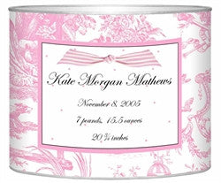 Birth Announcement Personalized Baby Bin | Pink - GDH | The decorators department Store