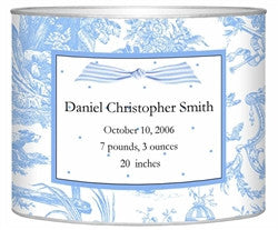 Birth Announcement Personalized Baby Bin | Blue - GDH | The decorators department Store