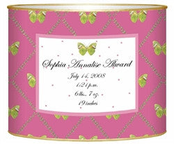 Birth Announcement Personalized Baby Bin | Butterfly - GDH | The decorators department Store
