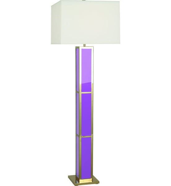 Barcelona Black Opaque Acrylic & Polished Brass Floor Lamp | Lavender