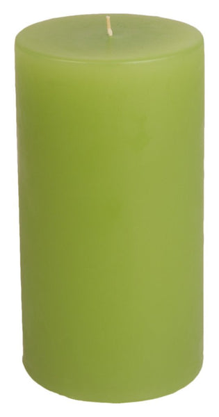Classic Hurricane Pillar Candles (Pair) | Lime Green