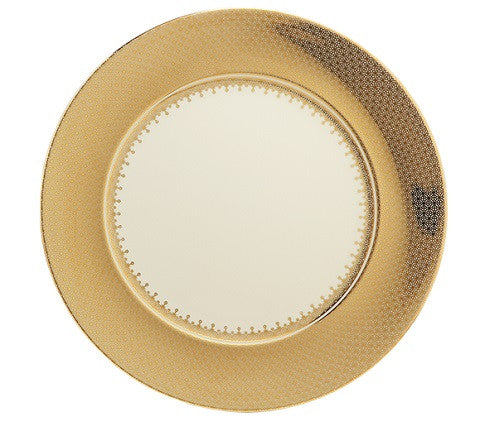Mottahedeh Lace Service Plate - Gold - GDH | The decorators department Store