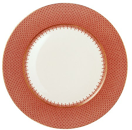 Mottahedeh Lace Service Plate - Red - GDH | The decorators department Store