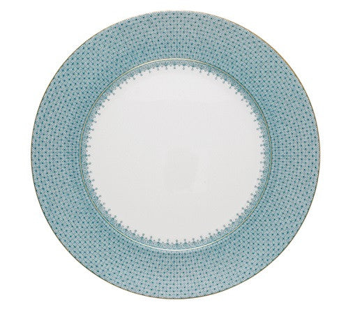 Mottahedeh Lace Service Plate - Turquoise - GDH | The decorators department Store