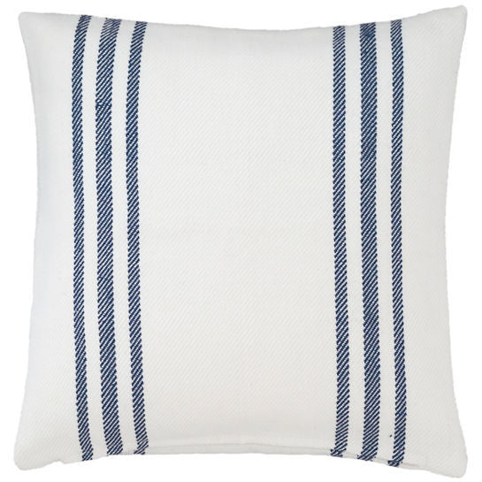 Lexington White/Navy Indoor/Outdoor Pillow