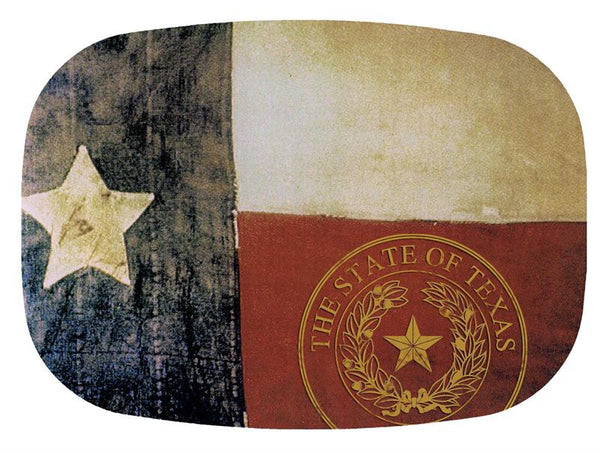 Texas Flag with Seal Glass Cutting Board