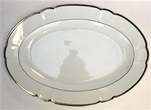 Robert Haviland Colette Platinum Large Platter - GDH | The decorators department Store