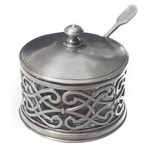 Match Pewter Cutwork Parmesan Mustard Pot