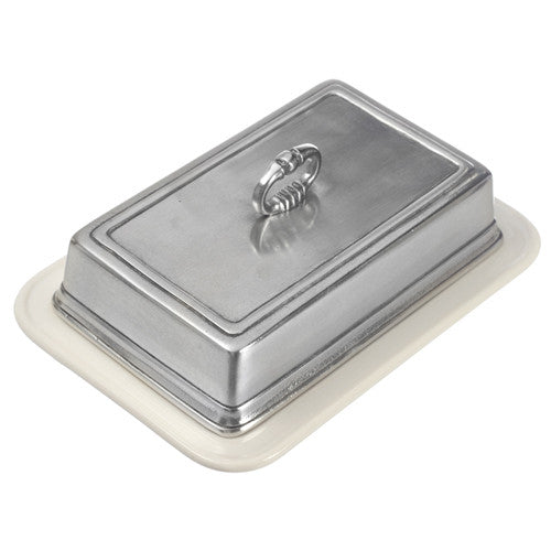 Match Pewter Convivio Double Butter Dish with Cover - GDH | The decorators department Store