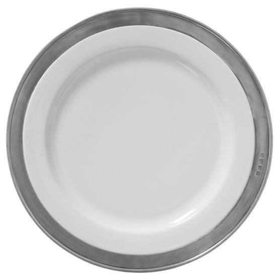 Match Pewter Convivio Classic White Buffet Plate - GDH | The decorators department Store
