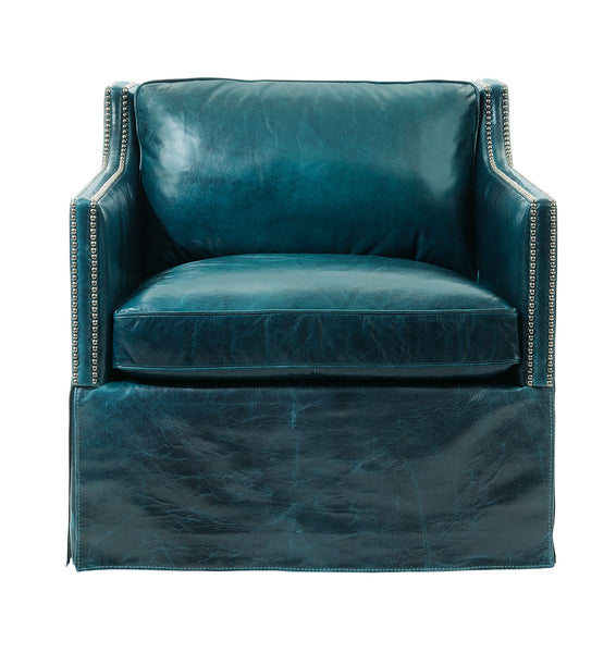 Delano Leather Swivel Chair - GDH | The decorators department Store