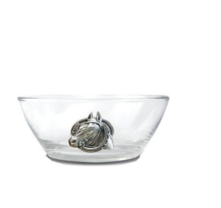 Equestrian Horseshoe Glass Dip Nut Bowl
