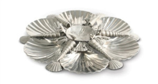 Pewter Marine Life Serving Tray - GDH | The decorators department Store