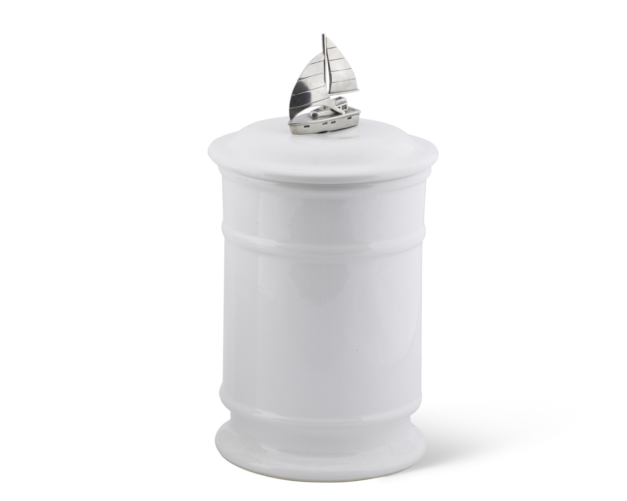 Sail Boat Stoneware Canister
