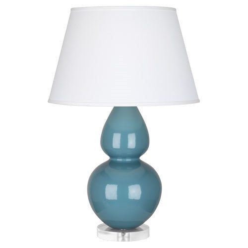 "Steel Blue Double Gourd 31"" Lamp - GDH 