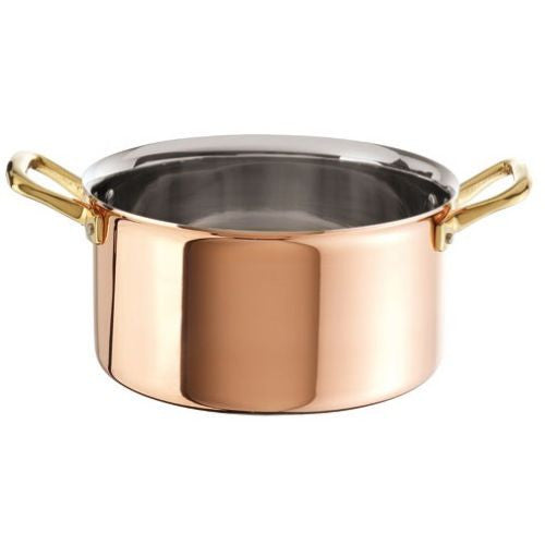 Large Copper with Stainless Steel Stew Pan - GDH | The decorators department Store - 1