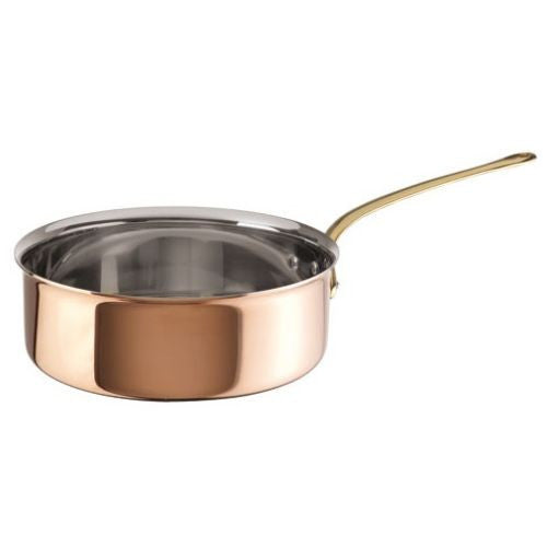 Copper with Stainless Steel Finish Saute Pan - GDH | The decorators department Store