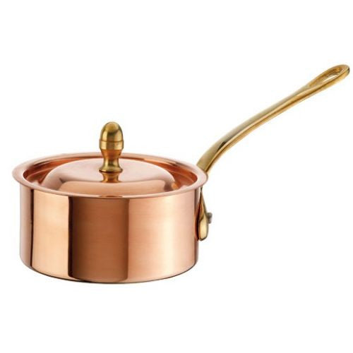 Copper Tin Mini Sauce Pan with Lid - GDH | The decorators department Store