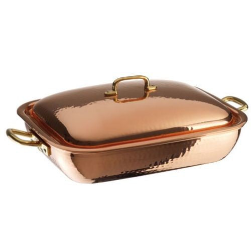 Copper Roasting Pan with Lid - GDH | The decorators department Store