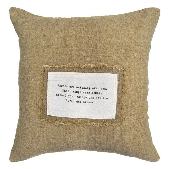 Natural - Angels Are Watching Pillow - GDH | The decorators department Store
